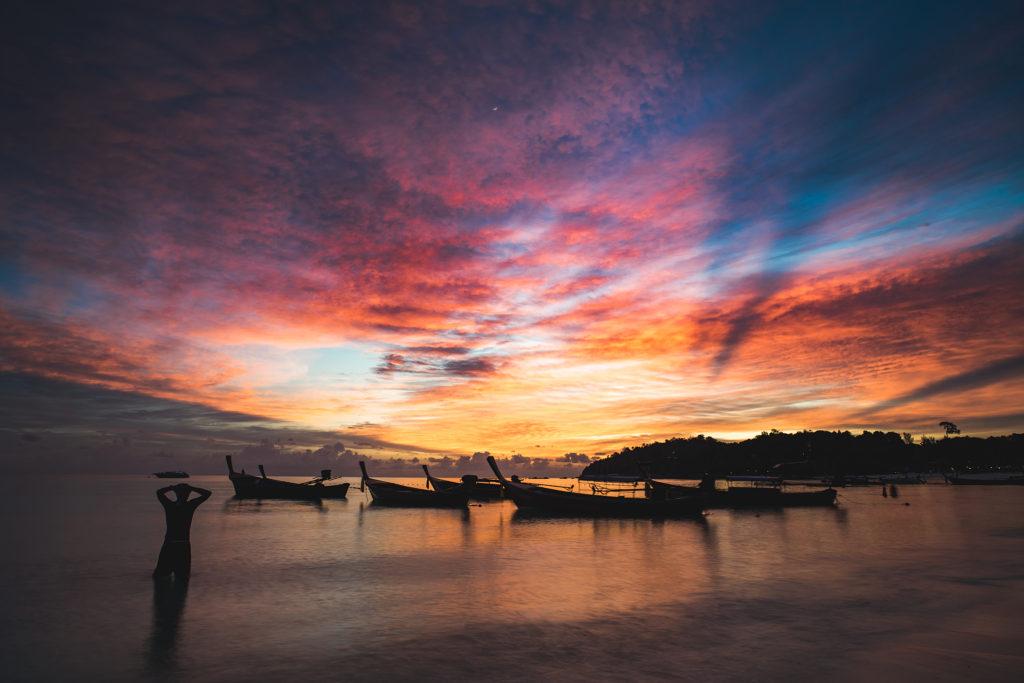 Sunset en Pattaya Beach